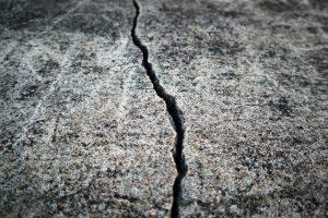 cracks from ground movement