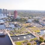 aerial view of the city of fort myers in florida