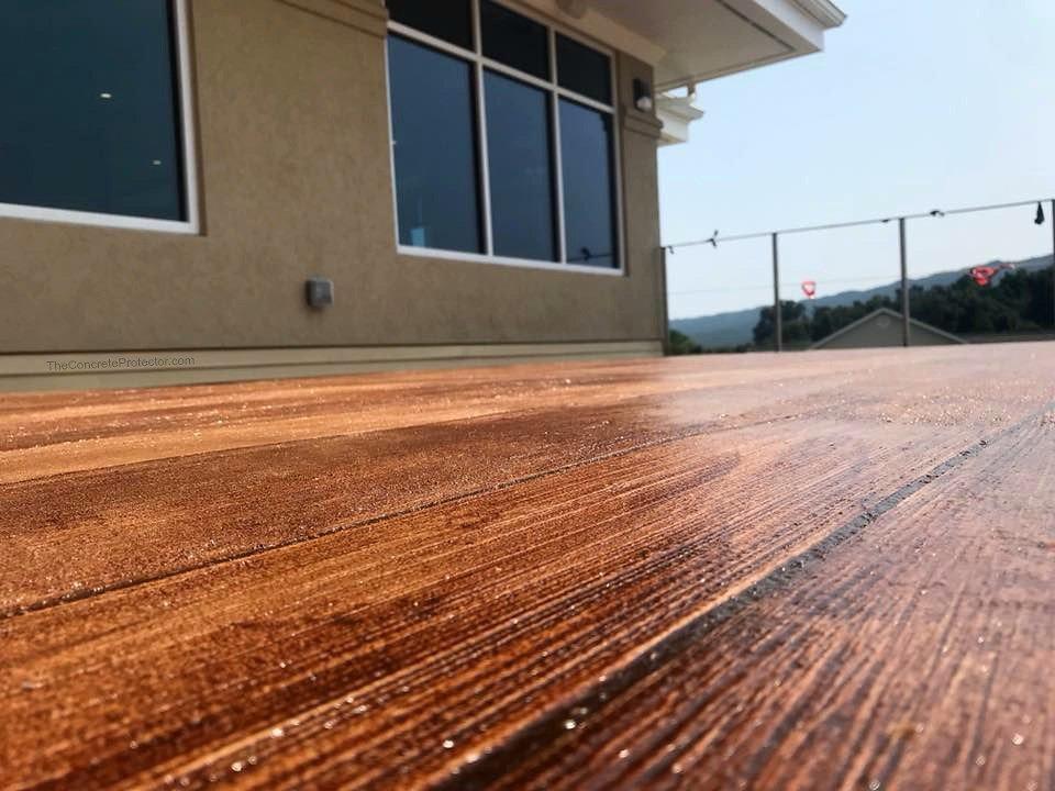 wood design concrete floor