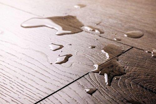 Spilled water on floor