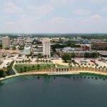 lake beside city in lakeland, florida